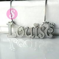 Kalung Nama Silver Grafir - Louise