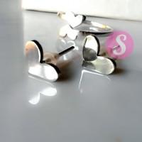 Set Anting & Cincin Love Silver Polos