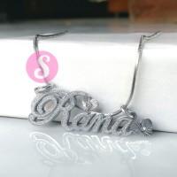 Kalung Nama Silver Grafir - Rana