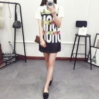 Tumblr Tee Mini Dress Brox FLoral Lengan Pendek IMport Murah