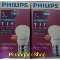 Lampu LED Philips 3 watt Bohlam 3w / Philip Putih 3 w Bulb LED 3watt