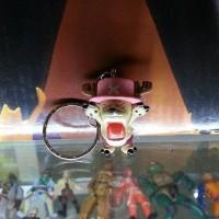 chopper one piece pvc gashapon gantungan kunci strap key chain choper