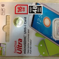 Micro Sd - Sandisk - 16GB ultra Class 10 80mbps