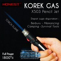 Korek Api Bara Gas Lighter - X503 Pencil Jet Torch Butane Gas Lighter