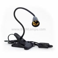Lampu Meja Jepit Fleksibel AR79-30CM Hitam