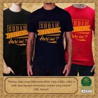 Baju Islami / Kaos Dakwah Pria / Baju Kata Mutiara / MARI Bersyukur