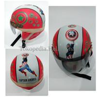 Jual Helm Anak Lucu Motif Captain America OOZZ Murah