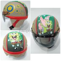 Jual Helm Anak Lucu Motif Spongebob TNTF Murah