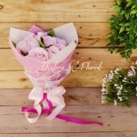 Buket Bunga Wisuda/ Kado Ultah/ Valentine Pink Roses