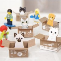 catatan tempel kucing korea / cat sticky notes post it memo SNO013