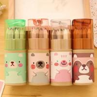 pensil warna beruang mini / Korean cute mini bear pencil color SPE007