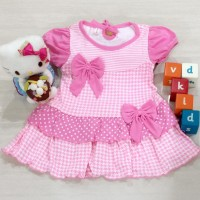 dress bayi / dress anak / baju bayi motif dua bunga polkadot