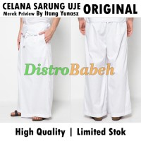 Celana Sarung UJE | ORIGINAL PREVIEW | Warna Putih | Bawahan Baju Koko