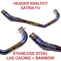 harga Header Pipa Knalpot Racing Satria Fu F150 Fi Pelangi Leheran Leher Tokopedia.com