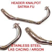 harga Header Pipa Knalpot Racing Satria FU F150 FI Stainless Leheran Leher Tokopedia.com