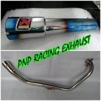 Knalpot Racing Akrapovic Gard Half Blue Fullsystem Cb 150 R / Cb150 New