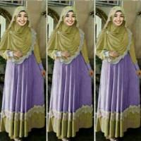 Gamis Belinda Purple / Pakaian / Baju Muslim / trend lebaran 2016