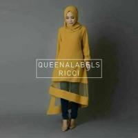 Hijab Ricci Yellow 2in1/ Baju Lebaran trend 2016
