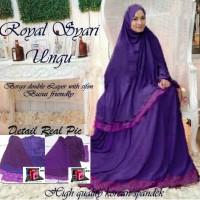 Royal Syari Ungu / Pakaian / Baju Muslim / Baju Gamis Lebaran 2016