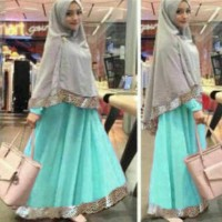 Syari Bergo Safira Tosca / Pakaian / Baju Muslim / trend lebaran 2016