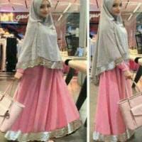 Syari Bergo Safira Pink / Pakaian / Baju Muslim / trend lebaran 2016
