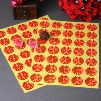 Sticker / Stiker Wedding Shuang / Xuang Xi Double Happiness RED SK162