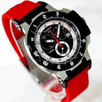 Tissot T Race 1853 Silver Combi (Red rubber)