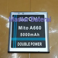 Baterai Battery Mito A660 Double Power