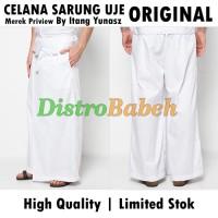 Jual Celana Sarung UJE | ORIGINAL PREVIEW | Warna Putih | Bawahan Baju Koko Murah