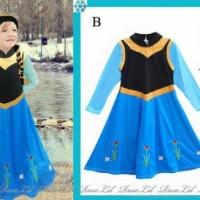 DRESS ANNA FROZEN KEPANG Branded Gamis Hijab Gaun Pesta Elsa Jilbab