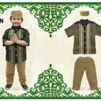 Baju koko anak set motif N