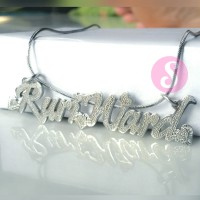 Kalung Nama Silver Grafir - RuriWard