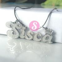 Kalung Nama Silver Grafir - Sisca