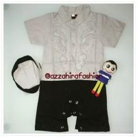 Baju Bayi Romper / Jumper / Jumpsuit Koko Anak Bayi Bordir Plus Peci