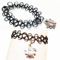 harga Choker Tattoo Bracelet Silver Bee | Gelang Handmade Tokopedia.com