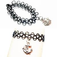 harga Choker Tattoo Bracelet Silver Anchor | Gelang Handmade Tokopedia.com