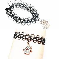 harga Choker Tattoo Bracelet Silver House | Gelang Handmade Tokopedia.com
