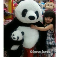 Boneka PANDA MOM n KIDS super besar (Giant)