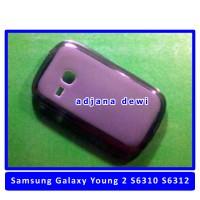 Silikon Case Samsung Galaxy Young New S6310 / Dual SIM S6312 Hitam Transparan