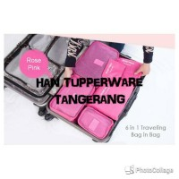 Jual 6 in 1 travel bag in bag Organizer / Tas Mudik / Secret Laundry Pouch Murah