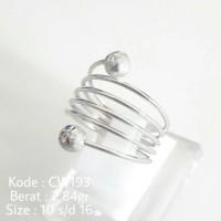 harga Cincin Ulir Per Pegas Fashion CW193 Silver Perak 925 Asli Sertifikat Tokopedia.com