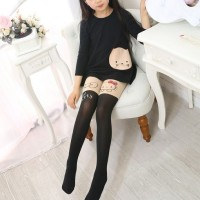 Stocking Stoking Kaos Kaki Panjang Anak Karakter Tattoo Kucing