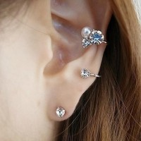 harga 1 Set Retro Crystal Pearl Ear Cuff Tokopedia.com