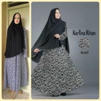 Gamis Syari Cantik Karlina Hitam (murah,terbaru,modis)