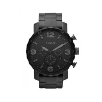 Fossil JR1401 Nate Chronograph Black Stainless Steel