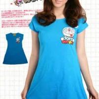 Dress Doraemon Logo Blue / Daster Doraemon Cute