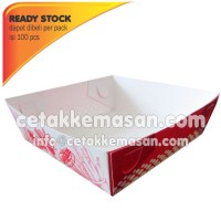 Papertray Piring Kertas uk 10x10 x 3.5 cm Foodgrade