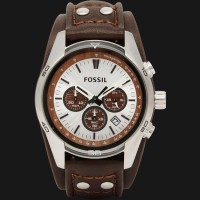 Fossil CH2565 Coachman Chronograph Brown Leather Strap