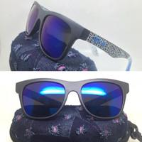 kacamata sport pria SPY+ rivery kenblock biru lensa biru include box