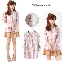 Branded Blouse Blossom Pink BUnga Baju Atasan Wanita Busui Menyusui L